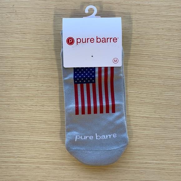 Pure Barre American Flag Sticky Socks